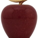 Red Marble Apple Paperweight 12AA
