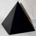 Black Marble Pyramid Sculpture